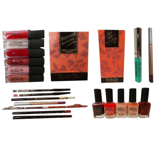 Joblot of 100 Ladies Cosmetics Nail Polish Lip Gloss Pencils Blushers Etc