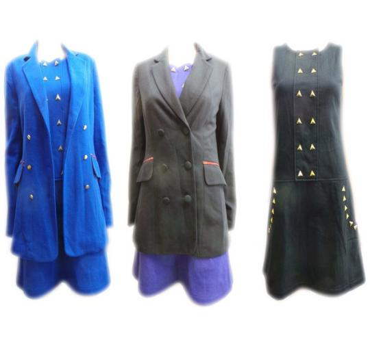 One Off Joblot of 10 Ladies Wondaland Dresses & Blazer Jackets Blue & Black