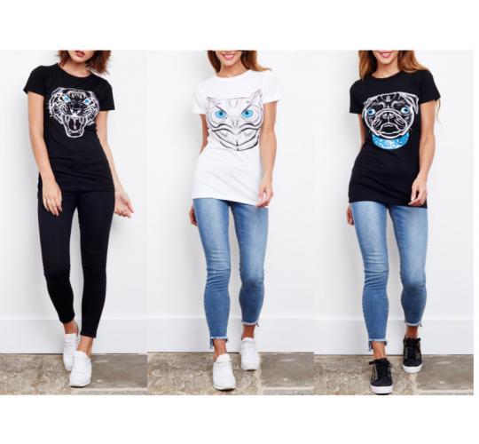Joblot of Ladies Animal T-Shirts