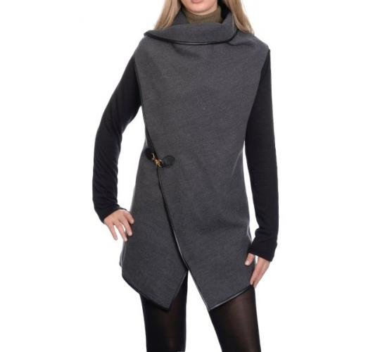 One Off Joblot Of 62 Ladies Contrast Waterfall Draped Cardigan Coats Available In 4 Colours