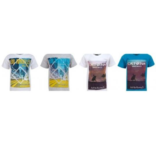 Soul and Glory One Off Joblot Wholesale 110 Mixed Boys American Printed Design Casual T-Shirts Aged 3yrs - 8yrs