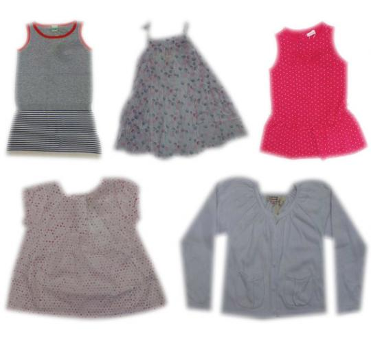 One Off Joblot of 13 Girls Branded Clothing Dresses Tops & Cardigan Mix of Sizes