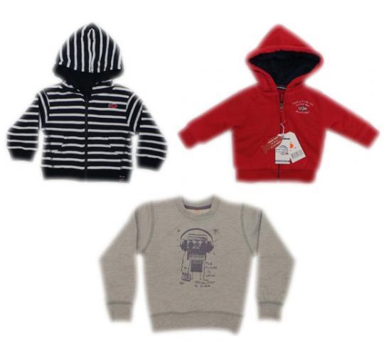 One Off Joblot of 16 Boys Branded Sweatshirts/Hoodies Weekend a la Mer/Milibe