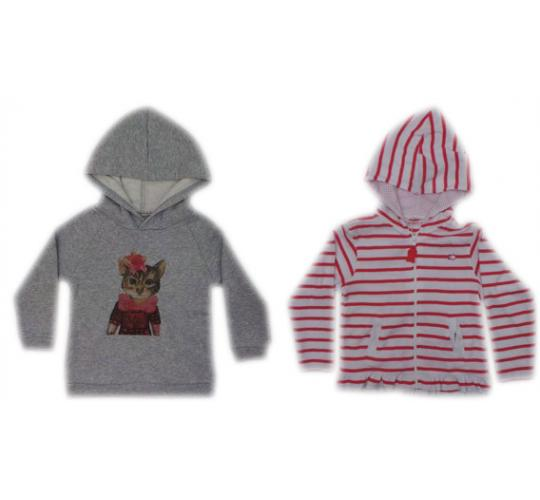 One Off Joblot of 8 Girls Branded Hoodies 2 Stunning Styles Ages 2-6