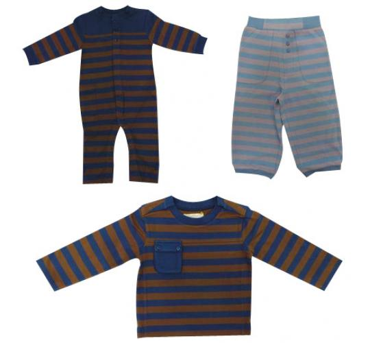 Joblot of 22 Unisex Childrens Toffee Moon Stripey All-in-Ones Tops & Trousers
