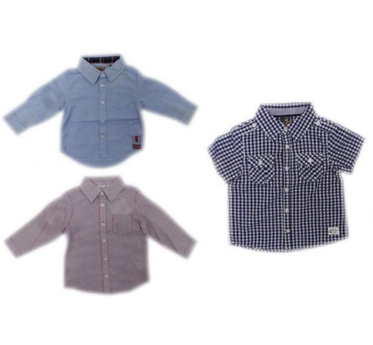 One Off Joblot of 23 Boys Branded Shirts 3 Styles Weekend a la Mer & Bebe