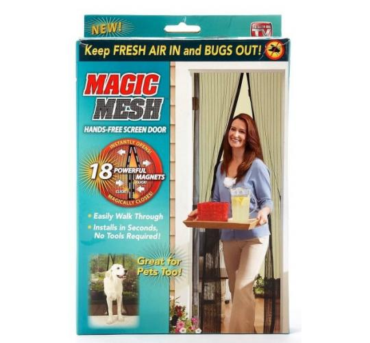 Magic Mesh Magnetic Door Curtain Insect Protection Net