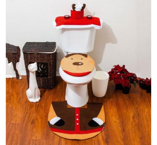 Reindeer 3pc Toilet seat cover