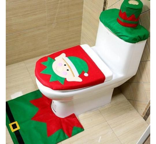 Elf 3 pc Toilet Seat Cover