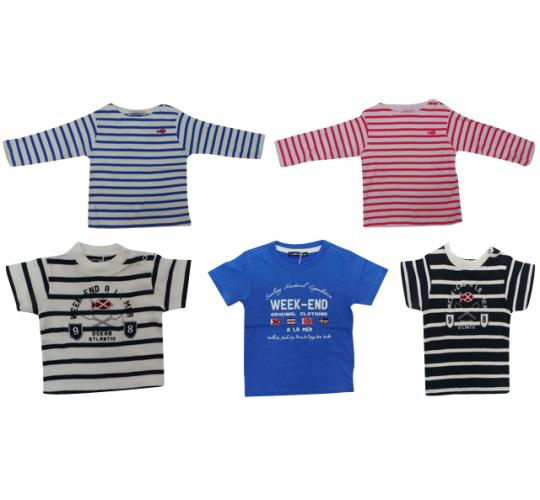 One Off Joblot of 38 Boys Weekend a La Mer T-Shirts 5 Styles Mix of Sizes