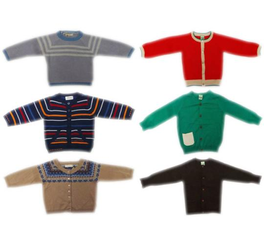 One Off Joblot of 21 Childrens Branded Cardigans/Jumpers 7 Styles