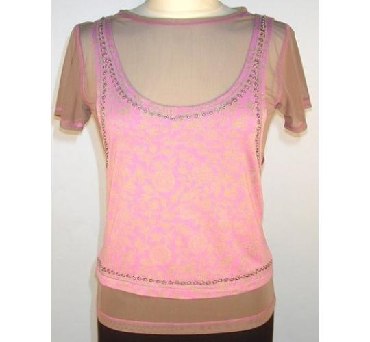 Ladies Two-Piece Vest (Pink) by Rohit Bal