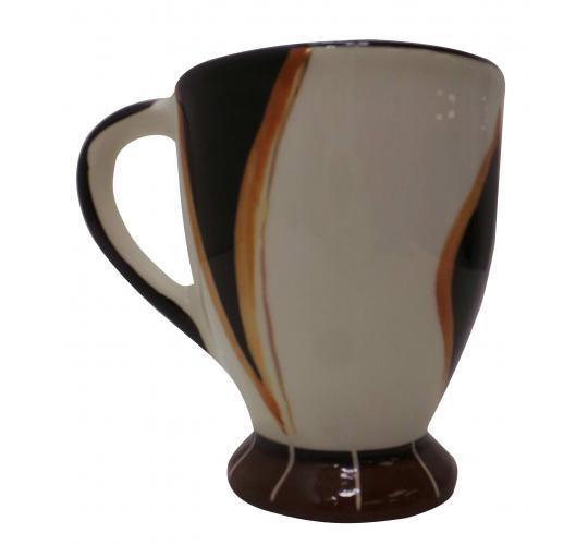 One Off Joblot of 17 Limpopo Ceramics Gold Wheel Coffee Mugs