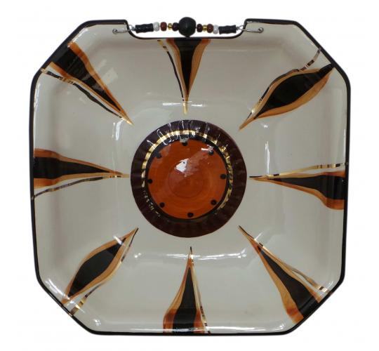 One Off Joblot of 8 Limpopo Ceramics Gold Wheel Square Bowls