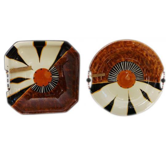 One Off Joblot of 10 Limpopo Ceramics Zebra Combination Square Bowls/XL Platters