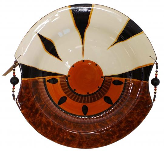 One Off Joblot of 14 Limpopo Zebra Combination Bark Ceramic XL Platter Dishes