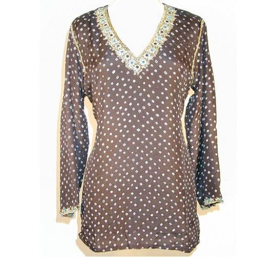 Ladies Embellished Kurta Tunic Tops