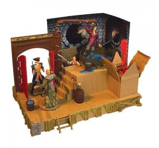 8 x Pirates of the Caribbean Singapore Battle Playset Toy by Zizzle