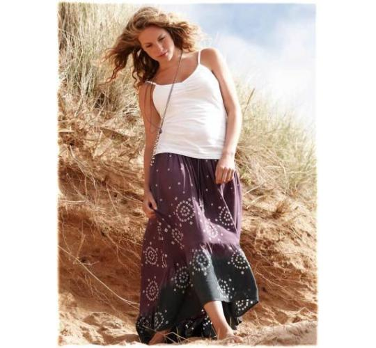 Ladies Tie Dye Hem Skirts & Silk Sari Print Wrap Skirts