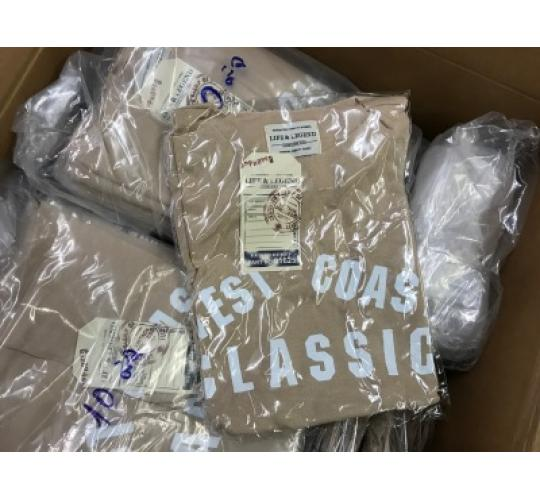 Wholesale lot of 75 Beige Cotton T- Shirts Size 10 BNWT