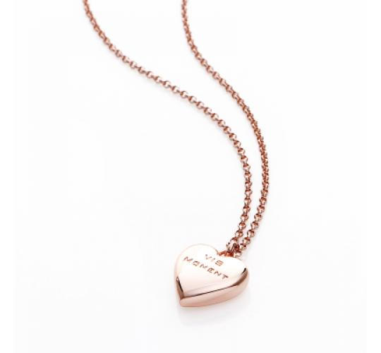 IS Moment, 25x Causeway - Rose Gold Heart Necklace, RRP: £675