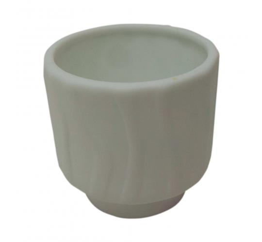 Wholesale Joblot of 96 Porcelain White Wave Patterned Candle Holders