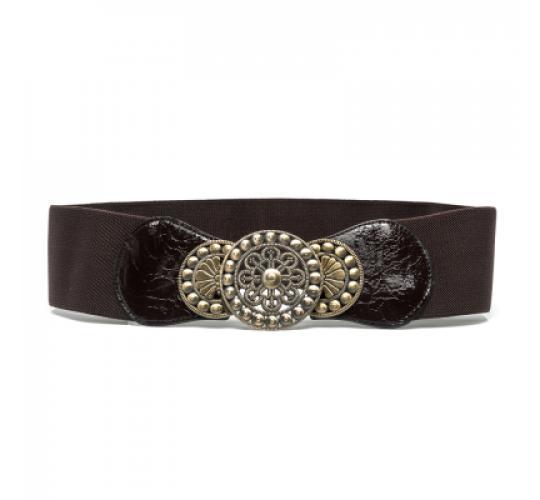 Ladies Women Fashion Disc Stretch Belt