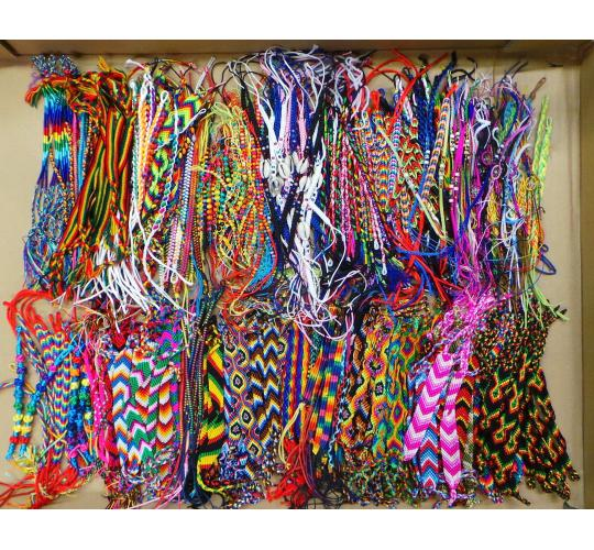 Wholesale Joblot of 100 Friendship Bracelets Mixed Colours & Designs