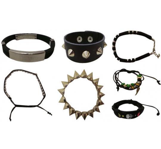 Wholesale Joblot of 100 Mixed Gothic Jewellery Bracelets & Cuffs