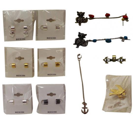 Wholesale Joblot of 100 Mixed Ladies Fashion Jewellery Ear Cuffs