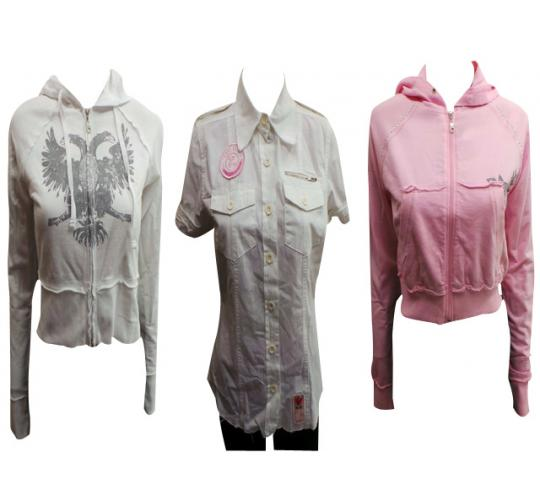 One Off Joblot of 8 Ladies Tokyo Rose Crop Zip Jackets & Short Sleeved Blouses