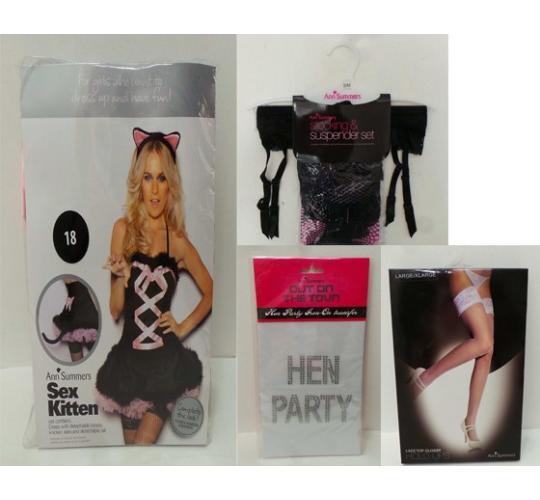 One Off Joblot of 4 Ann Summers Items Sex Kitten, Stocking & Suspenders Etc