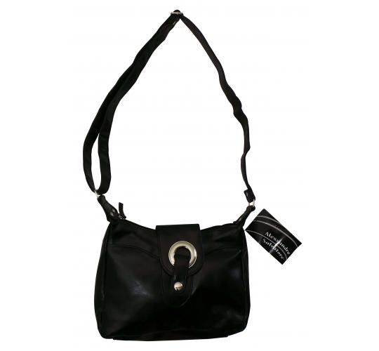 Wholesale Joblot of 20 Ladies Alessandro Black Silver Ring Shoulder Bags SML