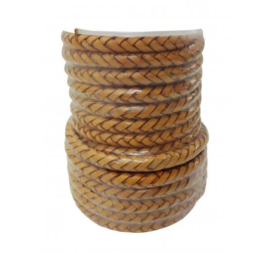 Joblot of 70m of Natural Braided High Quality Real Leather Woven Cords 6mm Wide