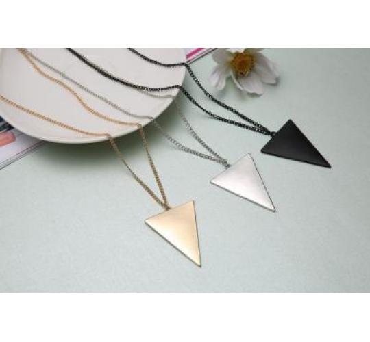 25 job lot bundle triangle statement necklace chain bulk buy gold silver