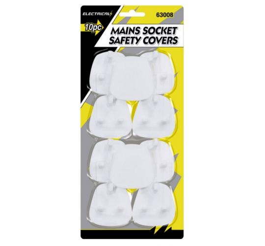 Mains Socket Safety Covers - 10pc