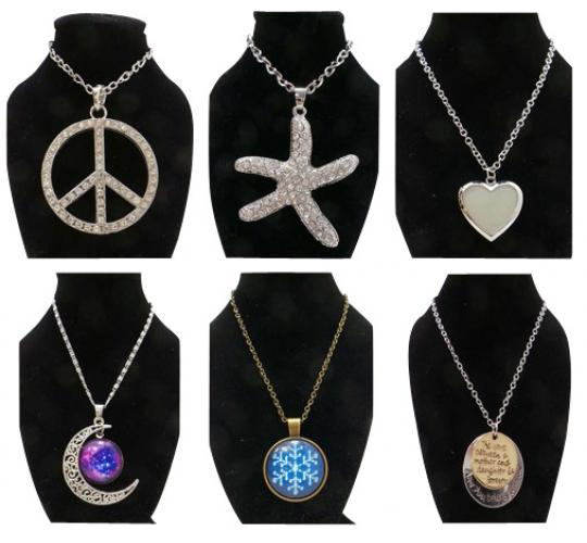 Wholesale Joblot of 50 Large Pendant Necklaces Assorted Designs