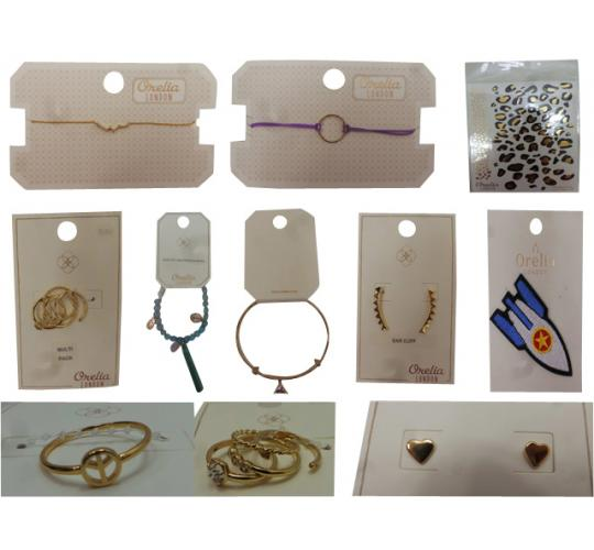 Joblot of 28 Orelia Jewellery Items Earrings, Rings, Bracelets, Transfers Etc