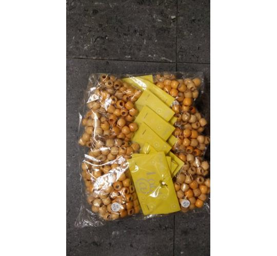 Wooden Blonde Hair Beads (216 packs) 18 Dozen