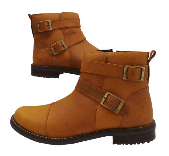 Wholesale Joblot of 5 Mens Tag1 London 100% Leather Tan Buckled Boots 3036