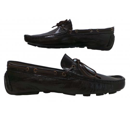 Wholesale Joblot of 5 Mens Tag1 London Black Leather Moccasin Deck Shoes 6616