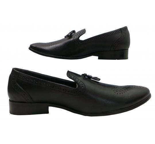 Wholesale Joblot of 5 Tag1 London Mens Leather Tassel Loathers Black 6910