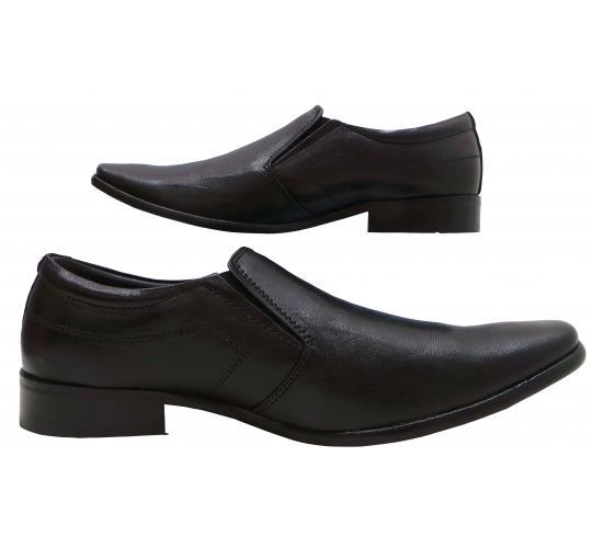Wholesale Joblot of 5 Mens Tag1 London Smart Leather Black Slip On Loathers 801