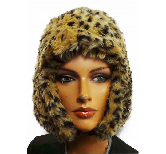 One Off Joblot of 40 Ladies Cheetah Styled Faux Fur Trapper Hats