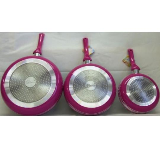 set of 3 heavy duty frying pans sets 20/26 and 30cm