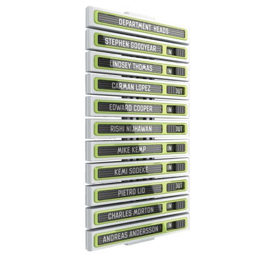 Metroplan Showpoint In-Out board - for 10 people