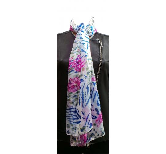 Wholesale Joblot of 24 Ladies Colourful Floral Decorated Scarves