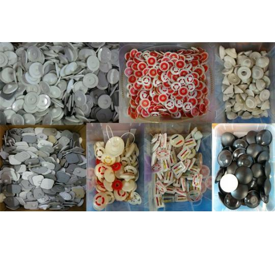 Joblot of approx 50 000 assorted security tags ideal for for Wholesale craft supplies for resale
