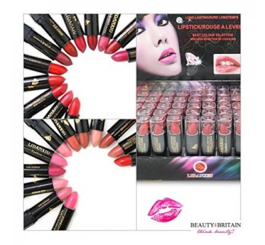 72 x Joblot of LIPSTICK/ROUGE with Vitamin A&E FULL SIZE DISPLAY BOX
