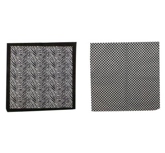 Wholesale Joblot of 24 Ladies Black/White Zebra Stripe & Check Neckerchiefs